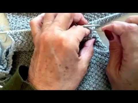 Come cucire la manica alla maglia con il punto invisibile (rimagliatura) - YouTube