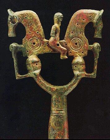 IBERIA. (Pre-Roman Spain) - Estandarte o báculo de distinción . Necrópolis de Numancia . Soria , España .