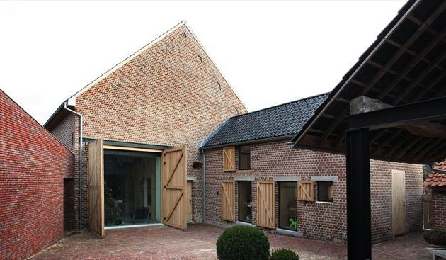Look past the brick - the massing and mix of traditional materials with steel is interesting.