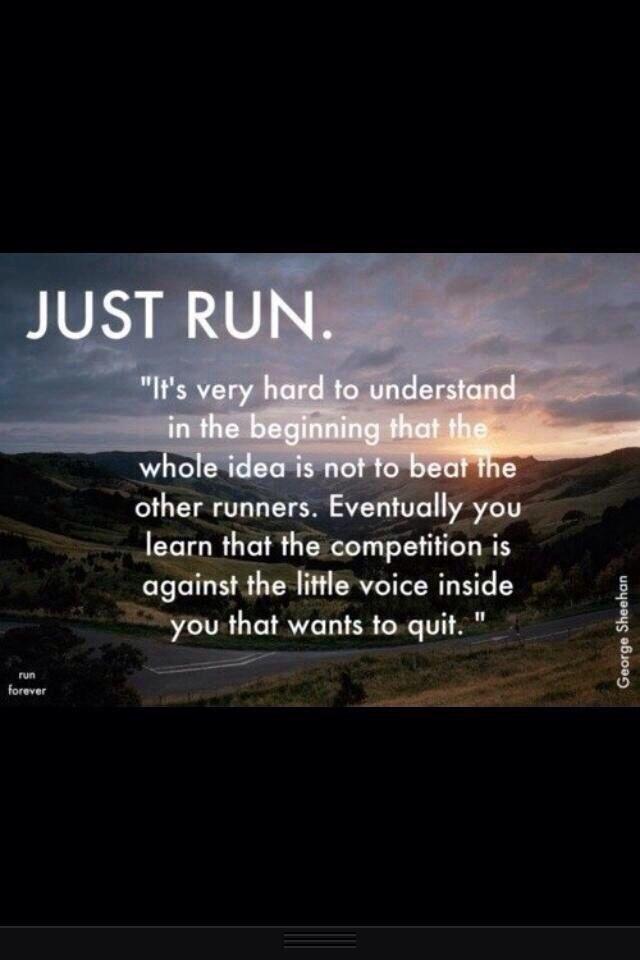 Great mantra... 9 weeks tomorrow - Virgin London Marathon running for CLIC_Sargent  Eeeeeek!  1st Feb 2014 Http://virginmoneygiving.com/DevonFitCamp