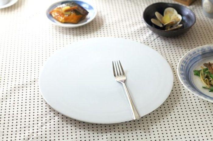 【楽天市場】フラットサークル 30cm ピザにも使えます♪オードブル パスタ カフェ食器 白い食器 美濃焼:セラポッケ~かわいい陶器のお店