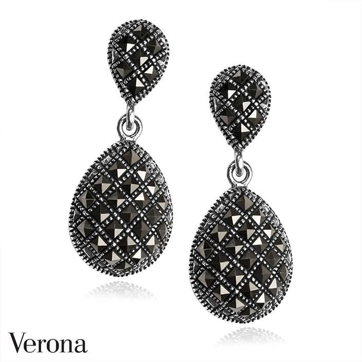 Srebrne Kolczyki ● www.Verona.pl/6684-srebrne-kolczyki-ks01270-bc000-mah000-000● #jewellery #black#accessories #blingbling #details #shining #classy #sale #greatprice #buyonline #verona #jewelleryfreak #jewellerylover #jewelleryobcessed #jewelry #jewels