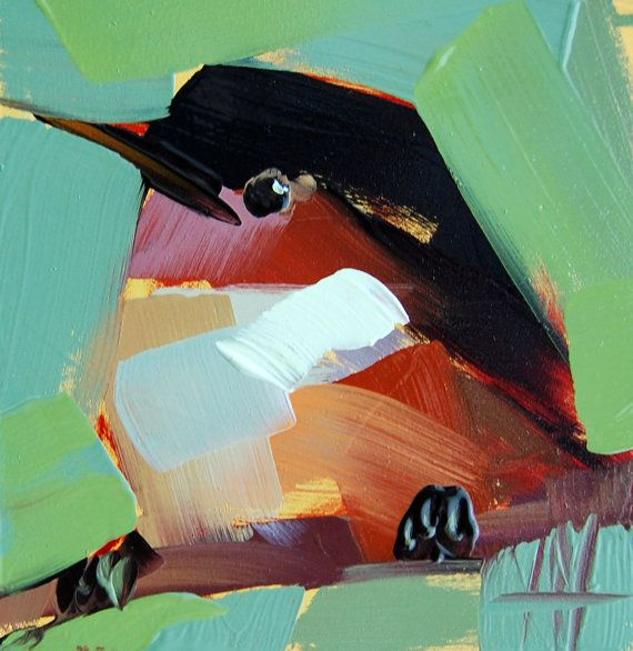 Barn Swallow no. 6 original bird oil painting by Angela Moulton prattcreekart