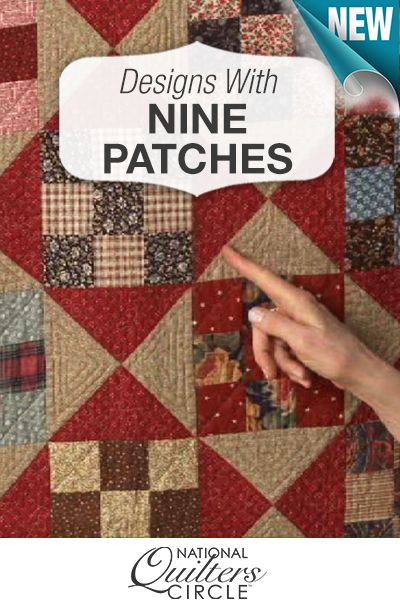 Step up your quilting game and learn how to design your very own traditional nine patch quilt http://www.nationalquilterscircle.com/video/simple-designs-nine-patches/?utm_source=pinterest&utm_medium=organic&utm_campaign=A219 #LetsQuilt