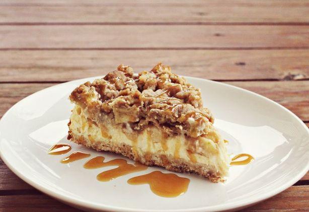 caramel appel cheesecake