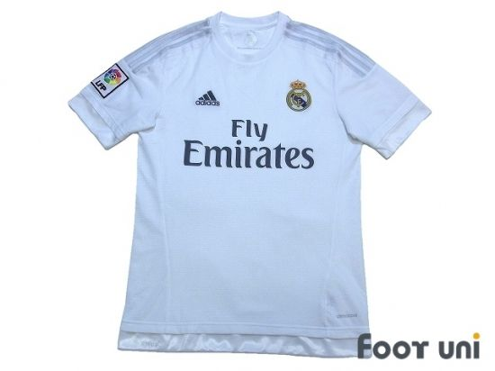 Real Madrid 2015-2016 Home Shirt LFP Patch/Badge ADIDAS - Football Shirts,Soccer Jerseys,Vintage Classic Retro - Online Store From Footuni Japan