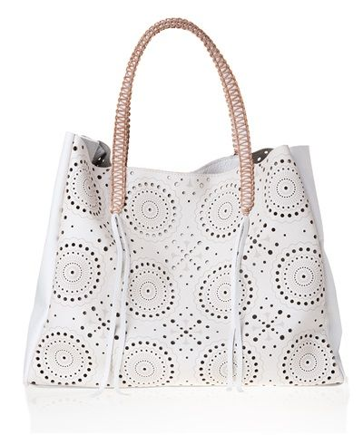 White Lace Tote Bag by Callista crafts Attica dept store Athens Greece