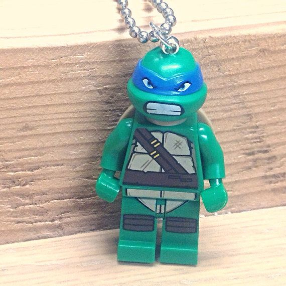 Leonardo Necklace  Lego Minifigure  Teenage by creativityismessy, $15.00