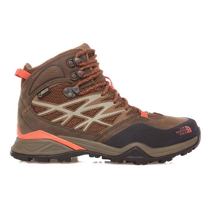 Botas The North Face Hedgehog Hike Mid GTX marrón naranja mujer    deporvillage
