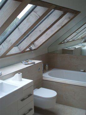 25 best ideas about small attic bathroom on pinterest for Barn conversion bathroom ideas