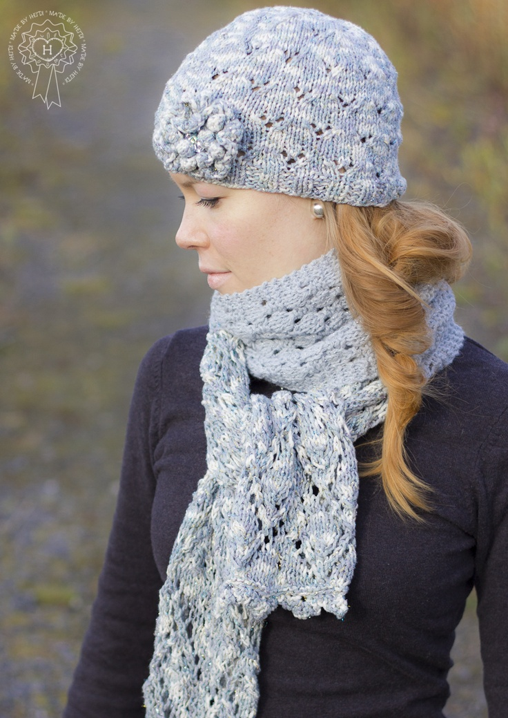 Pitsipipo ja -huivi / Lace hat and scarf