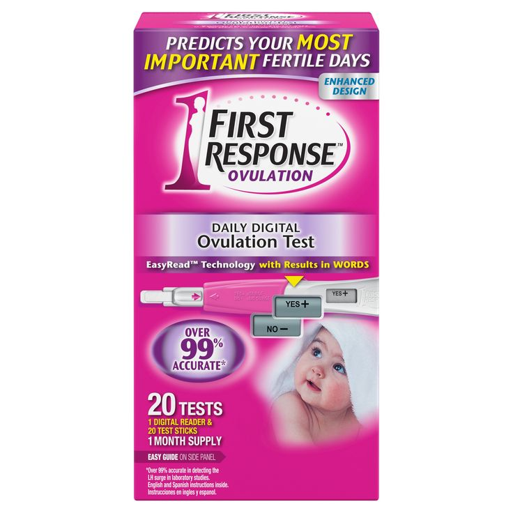 First Response Daily Digital Ovulation Test - 20 Count