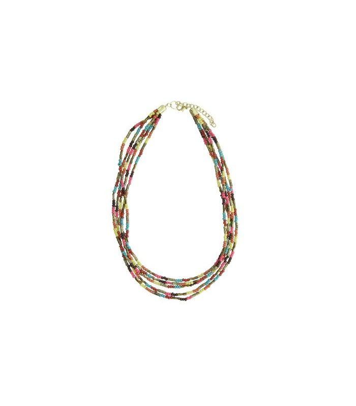 Gekleurde korte kralen halsketting |Mooie halsketting koop je bij A-zone | EAN: 8718189335852 | A-zone fashion