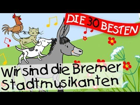 Wir sind die Bremer Stadtmusikanten - Märchenlieder zum Mitsingen || Kinderlieder - YouTube