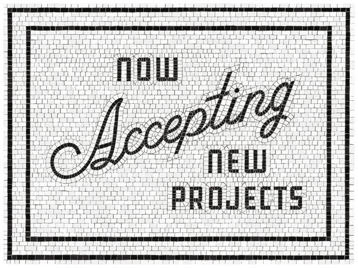 Mosaic Type - Process on Behance