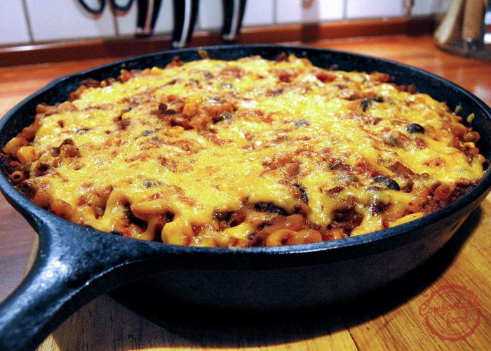 This one skillet chili mac recipe is a quick, easy delicious dinner any night of the week.
