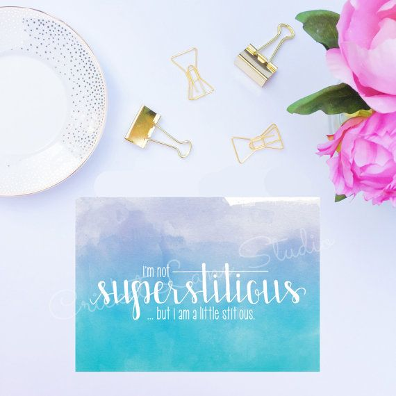 I'm not Superstitious Michael Scott Quote The by CricketLaneStudio