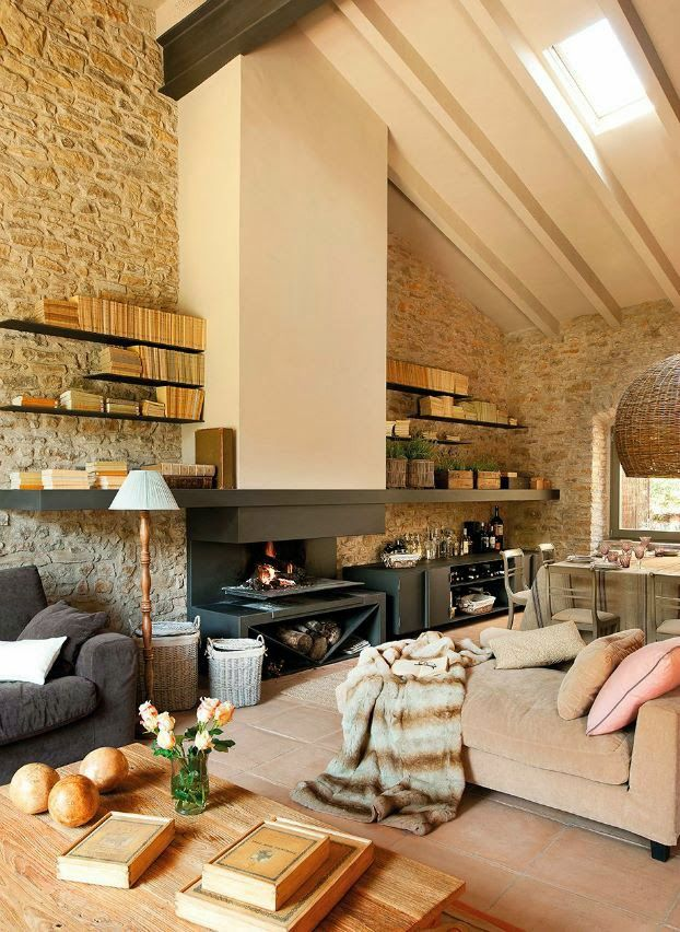 Love this combination of rustic and contemporary. Interested in getting ideas of your home contact us - www.impressiveinteriors.ca