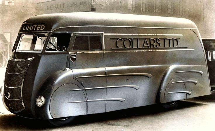 """danismm: """"Art Deco laundry van built in the 1930s by Holland Coachcraft of Govan, Scotland. """""""