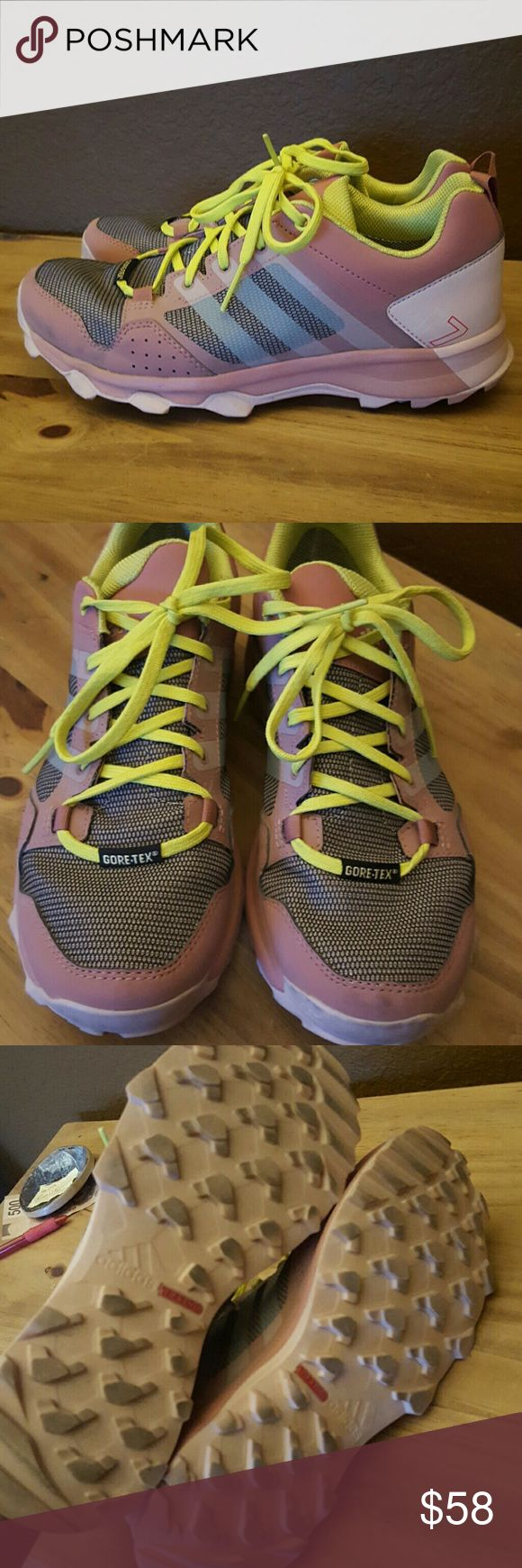 Adidas Kanadia Pink Trail Running Shoes Sz 7. Worn a handful of times and theyre too big. Adidas Shoes Athletic Shoes