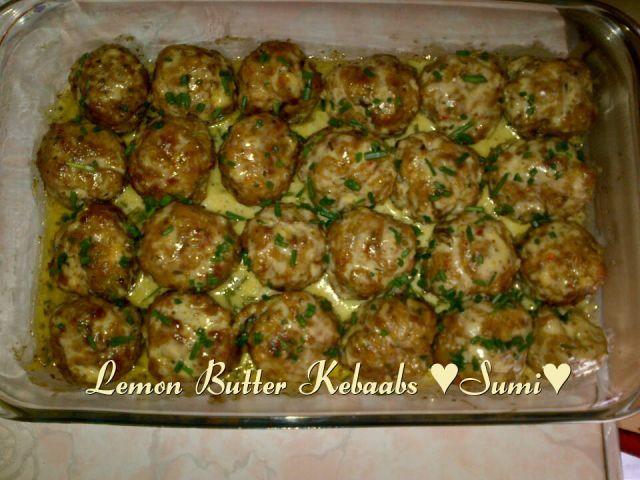 Lemon Butter Sauce for kebaabs, fish ,prawns or chicken