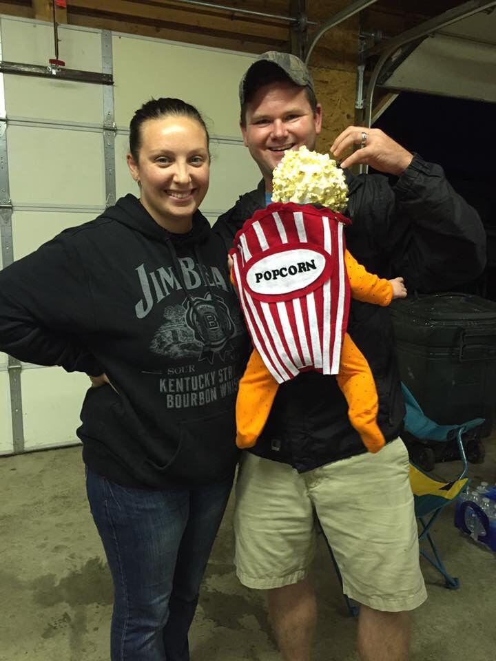 Halloween baby costume DIY popcorn