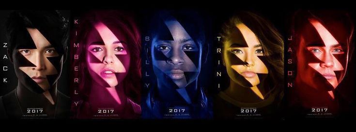 It's finally time to get closer look at the new batch of Power Rangers. Lionsgate officially released cast posters of the five might morphin' teen heroes on Thursday morning.  The new portraits depict close-ups of actors Dacre Montgomery (Red Ranger), Becky G (Yellow Ranger), RJ Cyler (Blue Ranger), Naomi Scott (Pink Ranger), and Ludi Lin (Black Ranger) tinted by their character's signature color, and overlain with the franchise's thunderbolt logo.