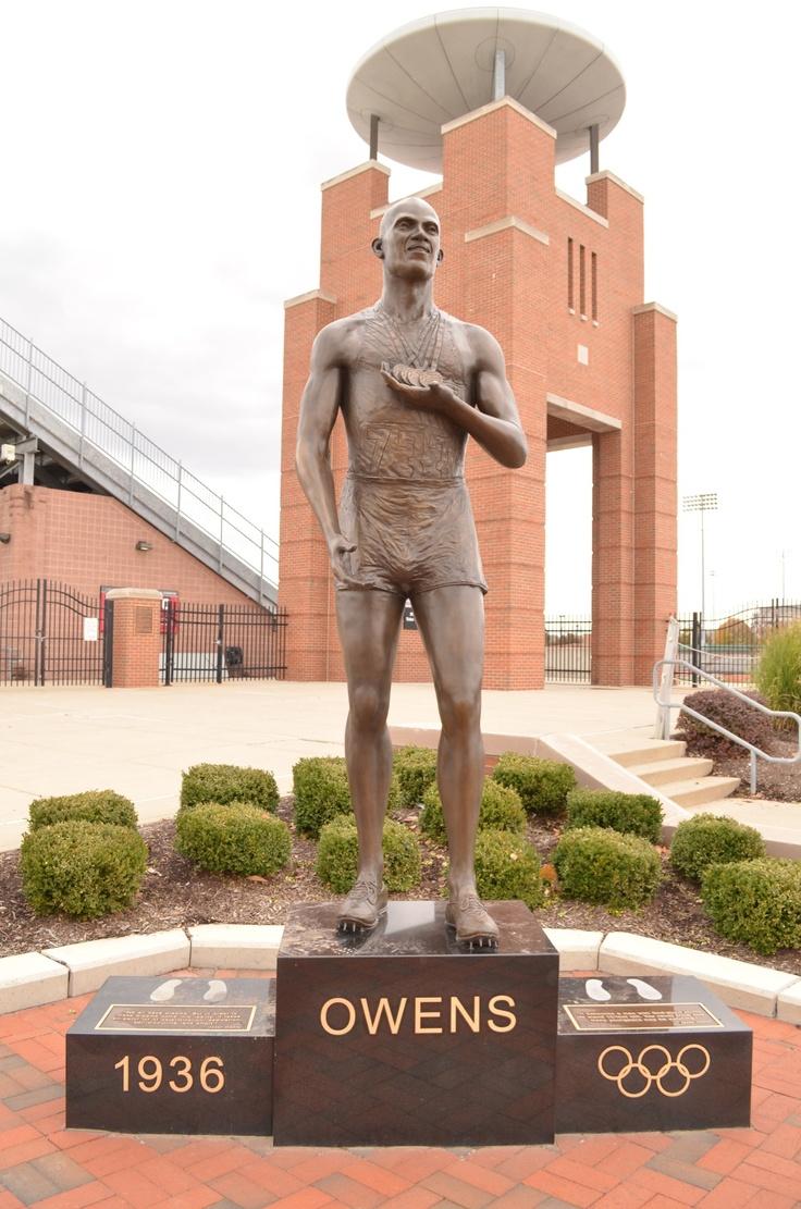 Ohio state university brutus buckeye statue - Statue Of Jesse Owens Outside His Track Stadium At The Ohio State University His Alma