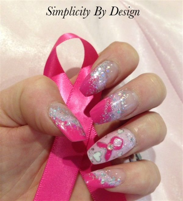 108 best breast cancer awareness nail art images on pinterest day 287 simply pink designs nail art prinsesfo Gallery