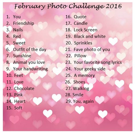 February Photo Challenge 2016