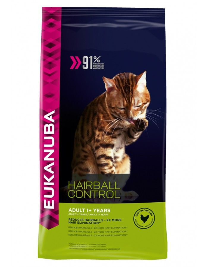 Eukanuba Cat Adult Hairball Control  4 kg