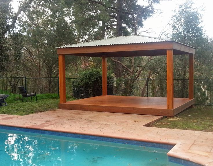 3m x 5m Colorbond Gazebo entertaining area with deck