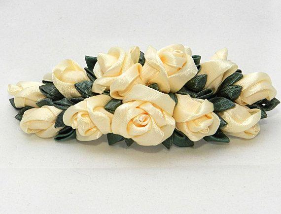Заколка с кремовыми розами от LazuritLouise на Etsy