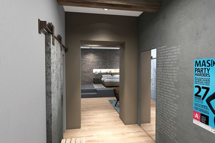 3d rendering, interior, B&B, entrance by Vormkracht 9