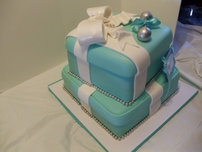 Tiffany's theme baby shower By kellzcakez on CakeCentral.com