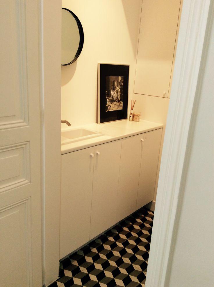 toilets # toilettes deco noire et blanche
