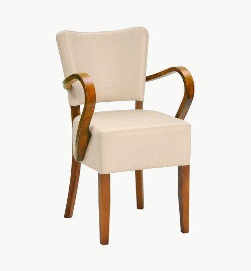 Karmstol som finns i flera olika färger på träet, många olika tygval. Ingår i en serie med vanliga stolar, barstolar, barpallar och pallar. Vikt 7,8 kg. Säljs i 2pack (2st). Pris anges (1st). Levereras monterad.  Tyg Lido, 100 % polyester, brandklassad. Tyg Luxury, 100 % polyester, brandklassad. Konstläder Pisa, brandklassad, 88,5% PVC, 11,5% polyester.