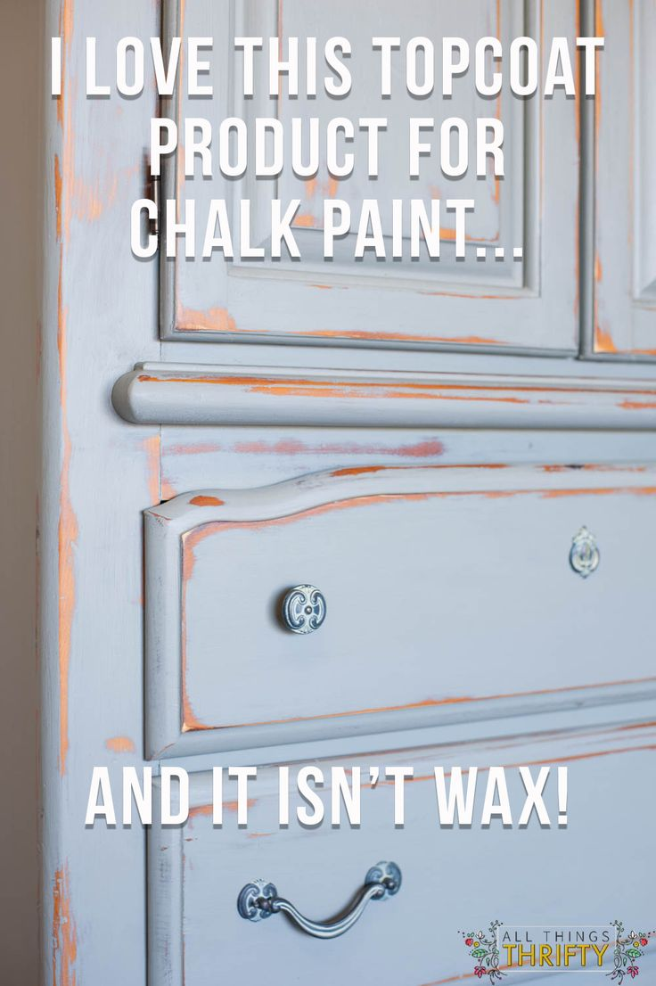 """A little voice in @allthingsthrift head said, """"This could be the product that replaces wax forever."""" But she needed to try it herself enough to know if it would work well. Find out more about Brookes thoughts on Rust-Oleum Chalked Matte Clear Protective TopCoat! http://www.rustoleum.com/product-catalog/consumer-brands/chalked/protective-top-coat"""
