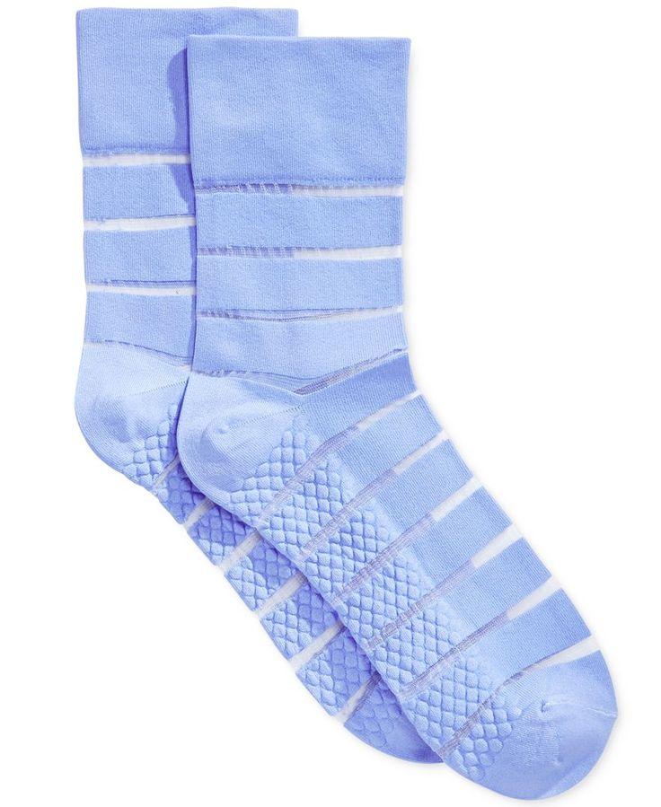 Hue Women's Sheer Stripe Pixie Socks