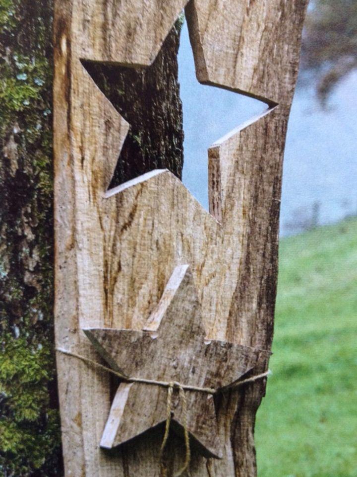 Holz Deko Für Den Garten Rustic Home Decor Christmas Garden