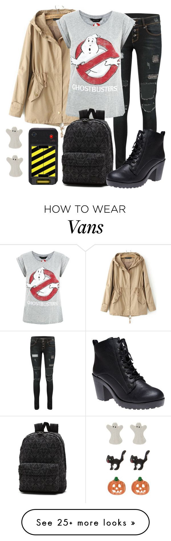 """""""who ya gonna call?"""" by waywardfandoms on Polyvore featuring Vans, Wet Seal, Kim Rogers and ghostbusters"""