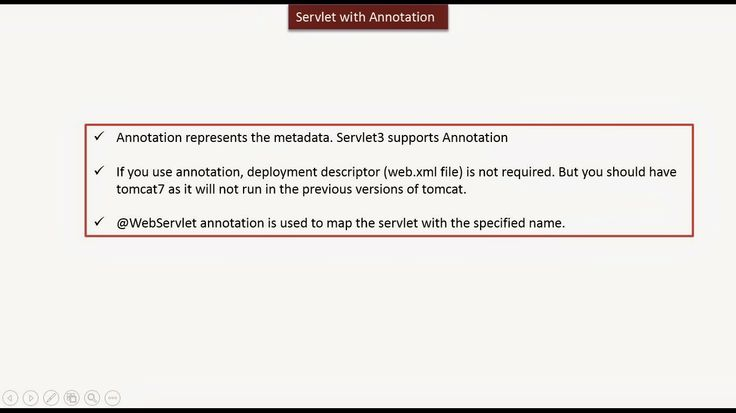 JAVA EE: Servlet with Annotation