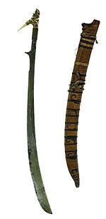 Niabor (other names also include Beadah, Naibor, Nyabor, Nyabur, Parang Njabur Laki-Laki) is a curved sword from Borneo, a characteristic weapon of the Sea-Dayaks.