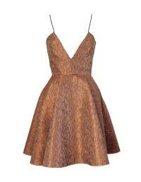 Vionette Bronze Low Neck and Low Neck Dress