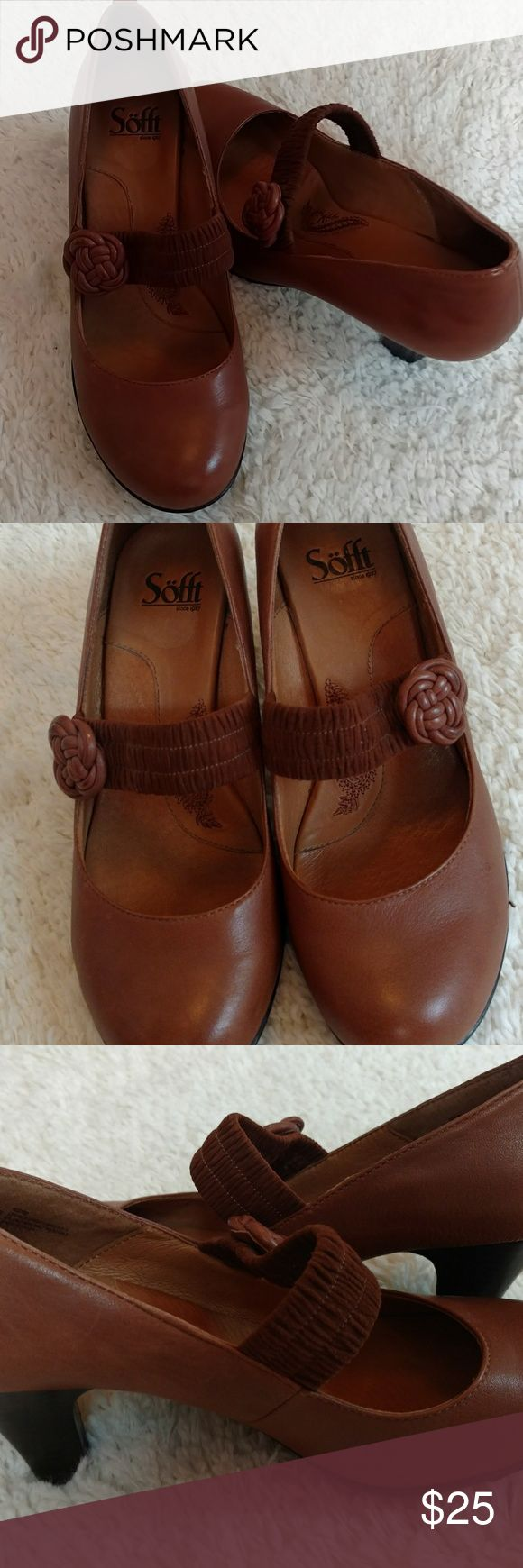 Vintage Style Sofft Shoes Size 8 Wonderfully soft and comfortable Sofft shoes size 8! Worn only once, in excellent used condition. Does have a slightly darkened leather mark on left shoe (see photo). Has a sort of vintage style/flair. Really cute with pencil skirts or trousers! Sofft Shoes