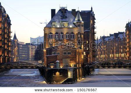 Hamburger Rathaus Town Hall of Hamburg - stock photo