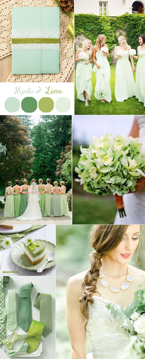 mint and lime green forest wedding ideas