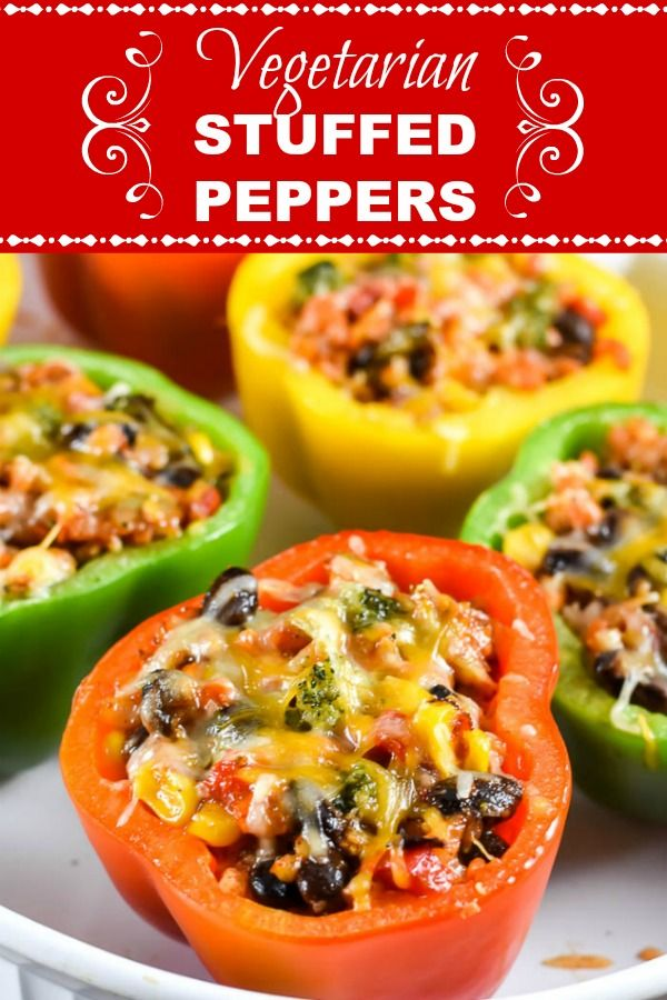 Vegetarian Mexican Stuffed Peppers Are Stuffed With A Medley Of Vegetables And No Rice Including Stuffed Peppers Vegetarian Mexican Mexican Stuffed Peppers