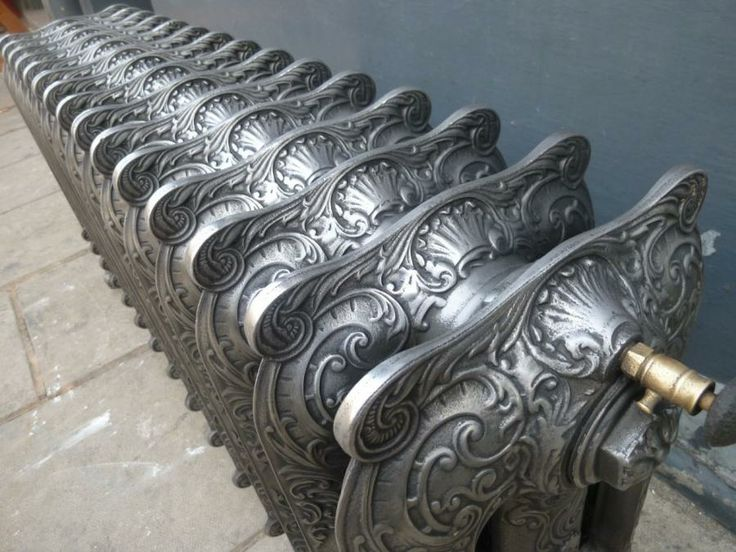 Rare decorative cast iron radiator - this was taken out of the home of Sir Joseph Beecham