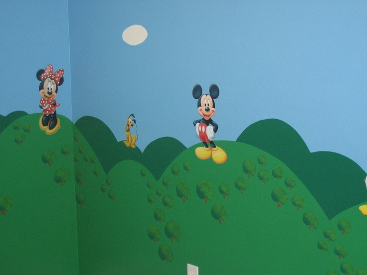 mickey mouse clubhouse painted room with stick on decals